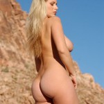 Super model Adele Stephens naked in the sun