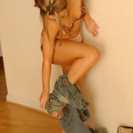 Carla Brown gives us a sneak peak down her jeans