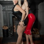 Dannii and Lilly Roma Latex babes