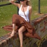 Sweet Essex model Hayley flashing her bum cheeks & knickers on the beach